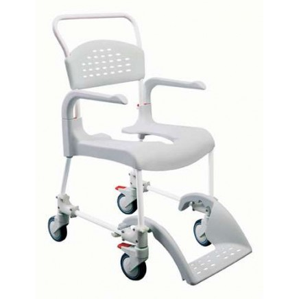 Etac® Clean Shower Commode Chair Attendent Propelled