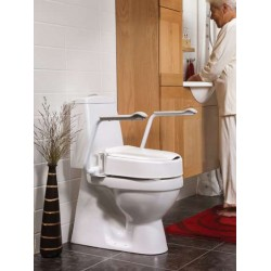 Etac® Hi-Loo II Fixed Raised Toilet Seat with Armrests
