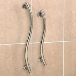 Polished Stainless Steel Rails Curved