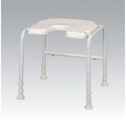 White Line Shower Stool