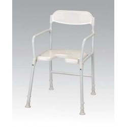 White Line Shower Chair