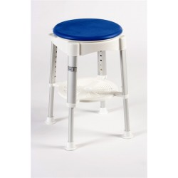 Bath Stool with Rotating Padded Seat