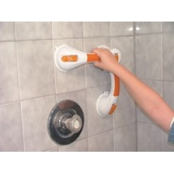 "Dual Rotating Suction Cup 12"" Grab Bar with Indicator"