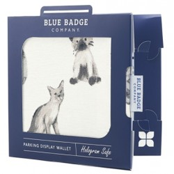 Meow Blue Badge Holder