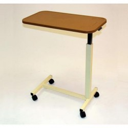 Overbed Table with Plastic Top